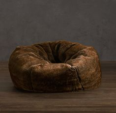 Grand Luxe Faux Fur Bean Bag Chair - $149