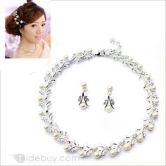 2014 New Arrival Gorgeous Pearl Bride Jewelry Set(Including Necklace and Earrings) : Tidebuy.com
