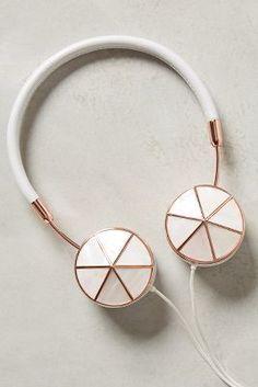 Anthropologie Interchangeable Enamel Headphone Caps  #anthrofave #anthropologie