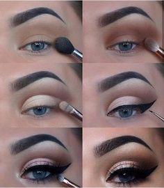 60 Easy Eye Makeup Tutorial For Beginners Step By Step Ideas(Eyebrow& Eyeshadow). - 60 Easy Eye Makeup Tutorial For Beginners Step By Step Ideas(Eyebrow& Eyeshadow), # - Eye Makeup Steps, Simple Eye Makeup, Natural Eye Makeup, Blue Eye Makeup, Smokey Eye Makeup, Eyeshadow Makeup, Eyeshadow Ideas, Easy Makeup, Natural Eyeshadow