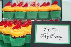 Wizard of Oz party ideas... love the cupcakes!
