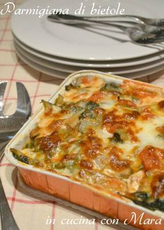 parmigiana di bietole Antipasto, Italian Dishes, Italian Recipes, Italy Food, Vegetable Dishes, Creative Food, I Love Food, Soul Food, Wine Recipes