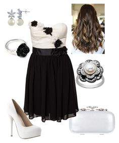 """""""Black & White Ball #9"""" by briony-jae ❤ liked on Polyvore featuring LeiVanKash, ALDO, Lord & Taylor and Elise Ryan"""