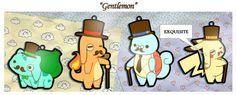 The Gentlemon: Bulbasir, Charmansir, Pikachap, and Sir Tle