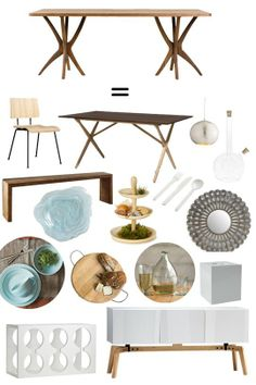 Collectible or Complete Room: Scrub Table = Organic Modern Dining Room