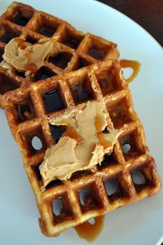 crispy, light banana waffles made with coconut flour and tapioca flour, nut free and paleo. from Eat the cookie!