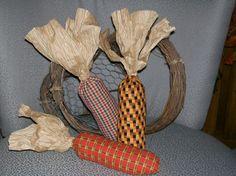fall+primitive+crafts   Primitive Arts & Crafts / Simple Fall decoration. Fabric Corn Bowl ...