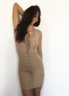 Kup mój przedmiot na #vintedpl http://www.vinted.pl/damska-odziez/krotkie-sukienki/18789319-sznurowana-letnia-sukienka-bezowa