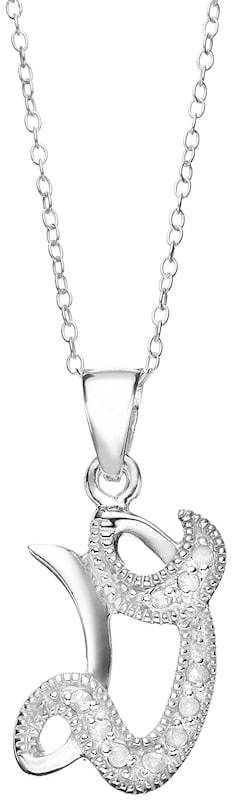 Kohl's 1/10 Carat T.W. Diamond Sterling Silver Initial Pendant Necklace