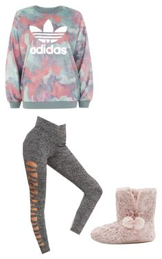 """Lazy "" by nightmarelove ❤ liked on Polyvore featuring adidas and M&Co"