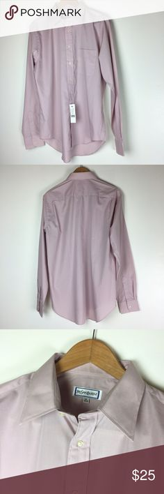YVES SAINT LAURENT (36-37) This shirt is new with tags! Size 16 36-37. Has a couple tiny marks on the back of the shirt low where it would be tucked into pants. Non-smoking pet free home. Color is dusty rose.         🔹suggested user • fast shipper🔹                       🔸bundle to save 15%🔸 Yves Saint Laurent Shirts Dress Shirts