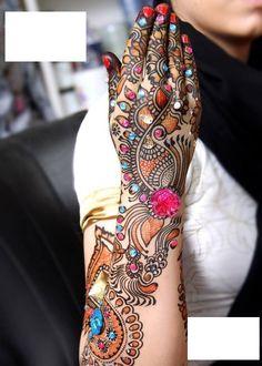 Top Colorful Bridal Mehndi Designs | Popular Fashion 2012