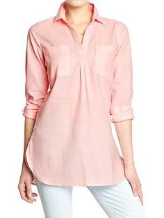 Womens Linen-Blend Tunics, via Old Navy- I have this in a small- it's a great tunic