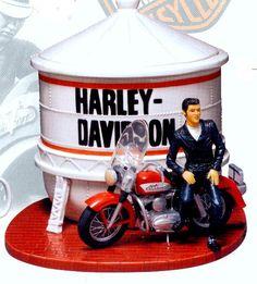 Elvis Presley Harley Davidson Cookie Jar