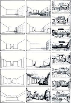 (Det kan være at man kan lave step by step tegninger af området, for at tydeliggøre et koncept) Rob Krier, Morphological Series of Urban Spaces