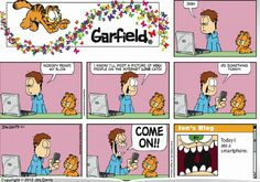garfield comic strips | garfield com april fool s 2012 by jim davis