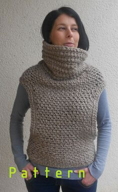 Crochet pattern for the vest cowl shawl scarf two by Mursulla