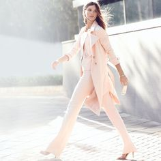 Color. It takes femininity. Key pieces lighten up with the prettiest pinks.