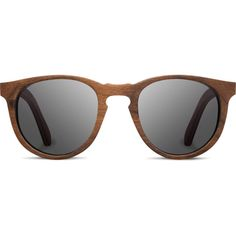 Belmont Wood Sunglasses found on Polyvore