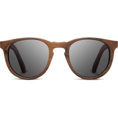 Belmont Wood Sunglasses found on Polyvore