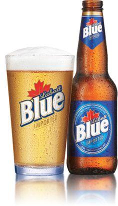 #53 Labatt Blue - Labatt Brewing Company Personalized Beer Glasses, Popular Beers, Different Types Of Beer, More Beer, Beers Of The World, Belgian Beer, Creole Recipes, Beer Bar, Brewing Company