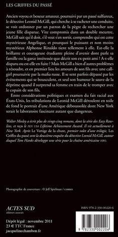 Jacqueline Chambon Noir - 2011-11 - Walter Mosley - Les Griffes du Passé - Verso