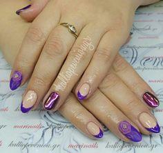 #nails #nailart #purplenails #chameleonnails #3dflowers #beautymakesyouhappy