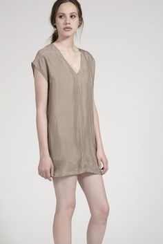 Deep V Dress by annotationclothig.com Perfect dress for summer 100% Cupro with Rayon slip