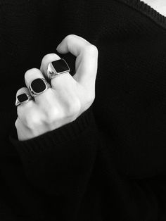 you may not have realized that signet rings have become as popular as statement sleeves and socks with sandals.