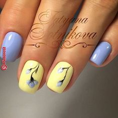 What manicure for what kind of nails? - My Nails Bright Summer Nails, Spring Nails, Summer Nails 2018, Nail Designs Spring, Nail Art Designs, Design Art, Design Ideas, Yellow Nails, Purple Nails