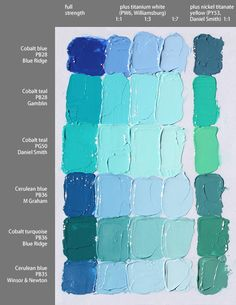 Oil painting Blue - Oil painting Tips Water - Oil painting Texture Flower - Oil painting Famous Artworks - - Oil painting On Canvas Sunset Color Mixing Chart Acrylic, Mixing Paint Colors, Paint Color Chart, Paint Charts, Acrylic Colors, Oil Paint Colors, Oil Painting Techniques, Painting Lessons, Art Techniques