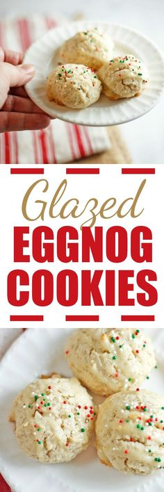 Glazed Eggnog Cookie