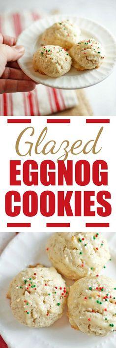 Glazed Eggnog Cookie
