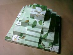 Origami Ancient Piramid..with flowers.
