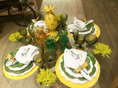 mesa summer, we share ideias, mesa posta, como colocar a mesa, get the look, mesa amarela e verde, green and yellow table decor