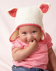 Bernat: Pattern Detail - Softee Baby - Kitty Hat (crochet)