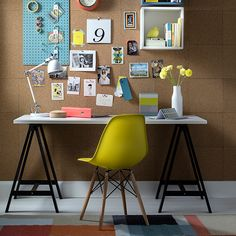 Need an office but don't have a room to spare? Turn the corner of a guest room…