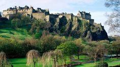 Preview wallpaper scotland, castle, hills, grass, nature, landscape 1280x720