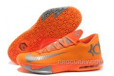 "e76fa1b65dc4 Nike Kevin Durant KD 6 VI ""NYC 66″ Total Orange Armory Slate-Team Orange  Cheap"