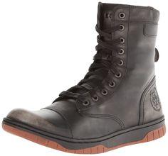 Diesel Men's Tatradium Basket Butch Zip Combat Boot, Black/Gum Sole, M US  ** More infor at the link of image : Men's boots