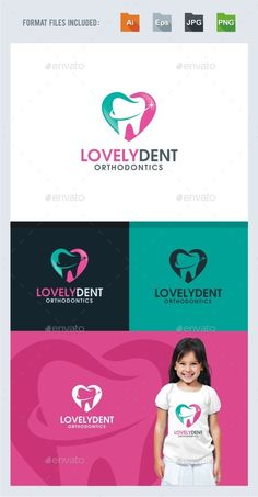 Lovely Dental Logo Template Vector EPS, AI. Download here: http://graphicriver.net/item/lovely-dental-logo-template/14458846?ref=ksioks