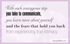 Communicate for Intimacy