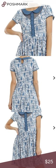 Dr. Who dress from hot topic. Medium, NWOT. Dr. Who Tardis Dress. Periwinkle blue and white. Never worn, NWOT. Size medium. Dresses