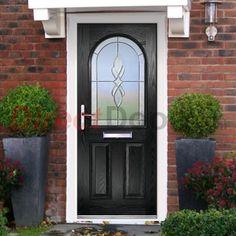 Lifestyle Image of Exterior Simplicity Claston Massimo Composite Door, shown in Black