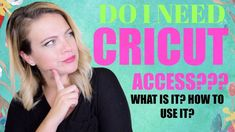 What is Cricut Access? How to use it! - YouTube Cricut Access, Cricut Tutorials, Cricut Vinyl, Being Used, Craft Stores, How To Become, Youtube, Videos, Circuit