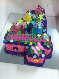 Brithday Cake, Cupcake Birthday Cake, Cupcake Cakes, Third Birthday Girl, 4th Birthday, Birthday Parties, Disney Princess Birthday Party, Princess Party, Girl Cupcakes