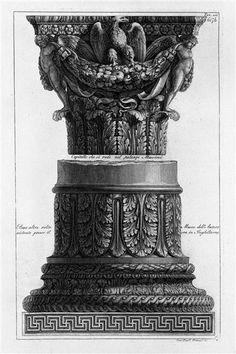 A capital and a base (inc F Piranesi) - Giovanni Battista Piranesi