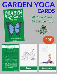 Are you looking for printable yoga cards for kids to use in your classroom, studio, or home? Find various thematic yoga cards and game ideas here! Yoga Poses Names, Kids Yoga Poses, Easy Yoga Poses, Kid Poses, Yoga Poses For Beginners, Yoga For Kids, Massage, Yoga Books, Tips & Tricks