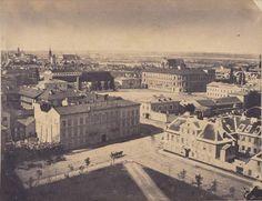 Widok z wieży Kościoła Ewangelików na Pac Saski,  1858 rok