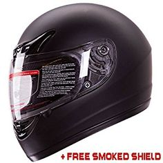 Matte Black Full Face Motorcycle Helmet DOT... by IV2 for $54.90 http://amzn.to/2iW9KcW